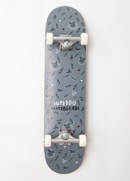 "Inpeddo, Leaf, Skateboard Basic Complete, dark grey - 7.75"""