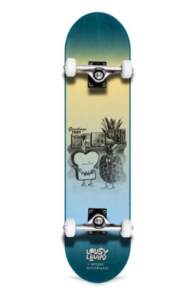 "Inpeddo X Lousy, Livin Toast Hawaii, Skateboard Std Compl- 8.0"""