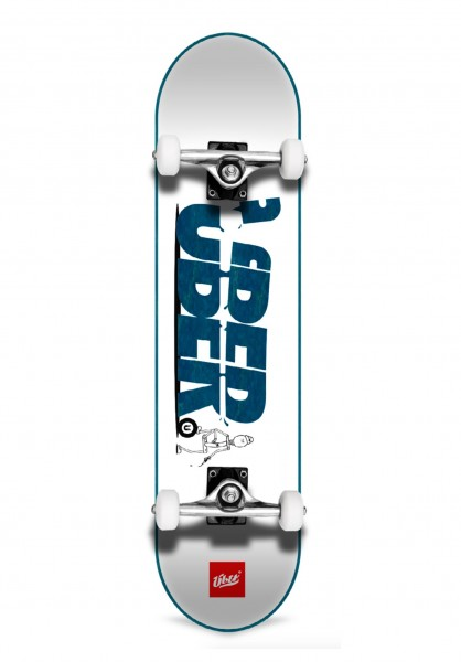 Über Skateboards, Slice, Skateboard 4-Star Compl, light blue