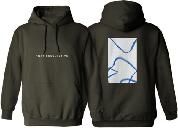 Poetic Collective, Hoodie, Doodle, olive