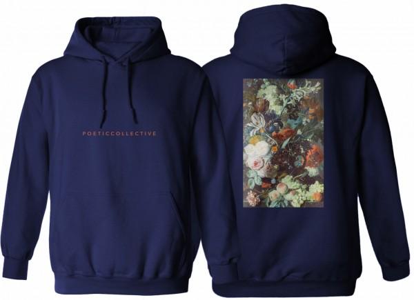 Poetic Collective, Hoodie, Flower, navy