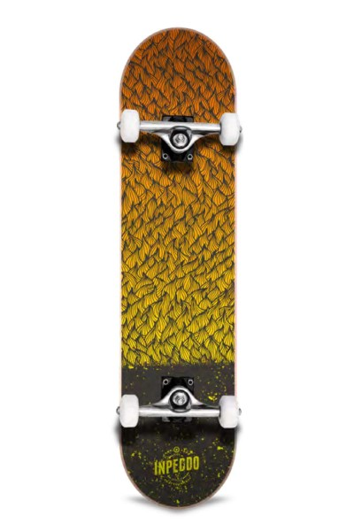 Inpeddo, Feather, Skateboard Basic Compl, yellow - 7.25""