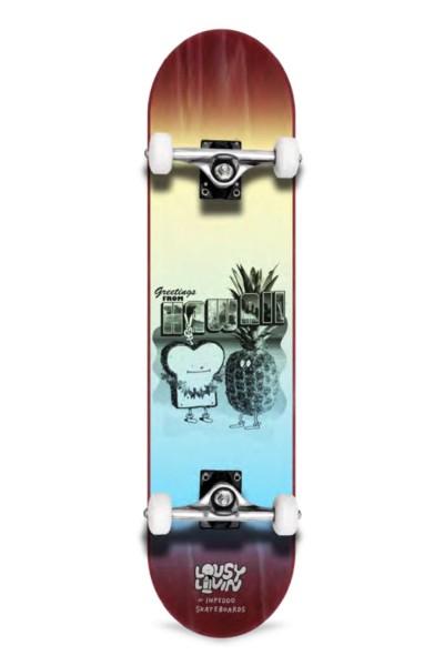 "Inpeddo X Lousy, Livin Toast Hawaii, Skateboard Std Compl- 8.25"""