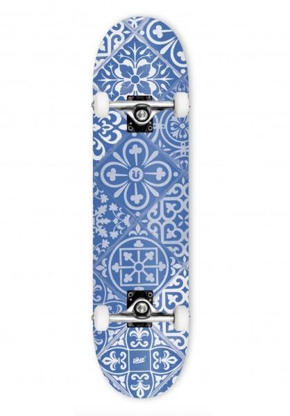 """Über Skateboards, Tiles, Skateboard 3-Star Compl, blue - 7.75"""""""