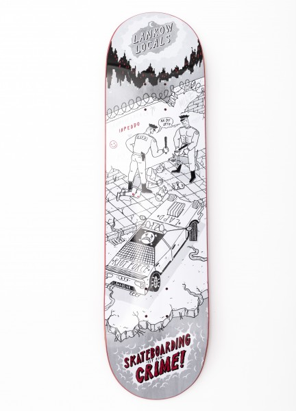 """Inpeddo, It's a Crime, Deck MC, wood red - 8.25"""""""