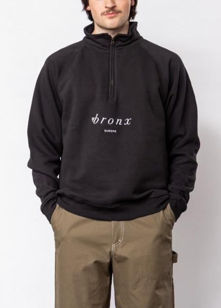 BRONX, Zip-Neck Sweater, Europe, black