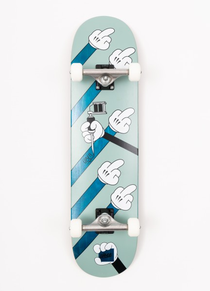 "Über Skateboards, Fuck Ü, Skateboard 4-Star Compl, blue - 8.0"""