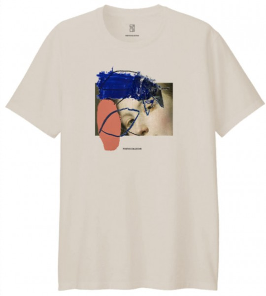 Poetic Collective, T-Shirt, Half and half, sand