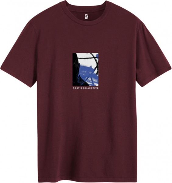 Poetic Collective,T-Shirt, Painting, burgundy