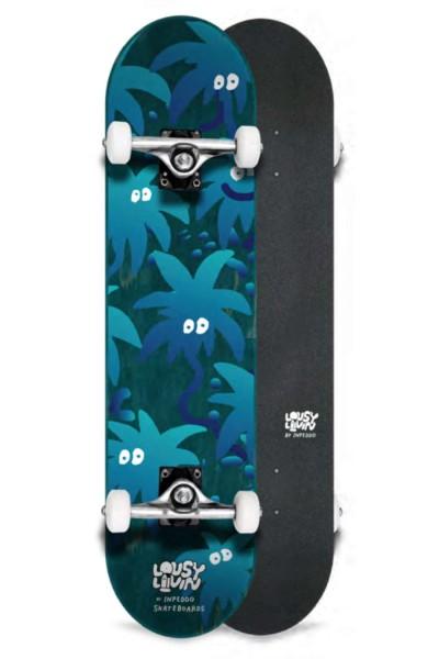 "Inpeddo X Lousy, Livin Palm Eyes, Skateboard Std Compl- 8.125"""