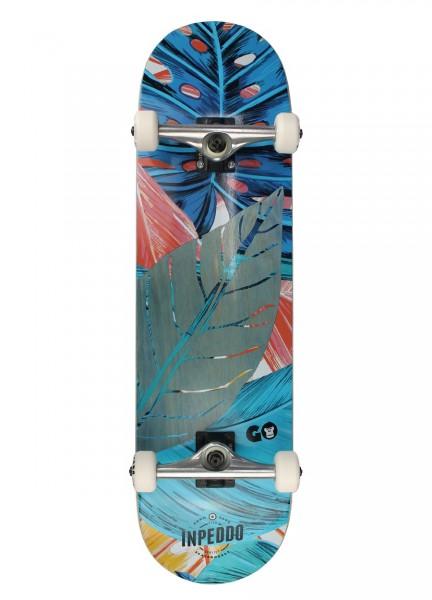 """Inpeddo X Gorilla, Skateboard Std Compl, blue - 8.5"""""""