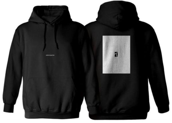 Poetic Collective, Hoodie, Box, black / white