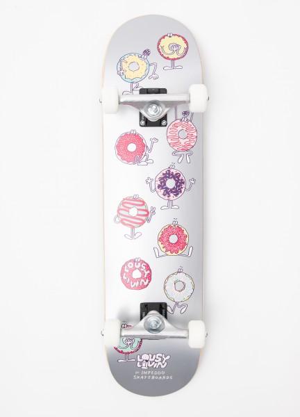 "Inpeddo X Lousy, Donut, Skateboard Std Compl - 8.125"""