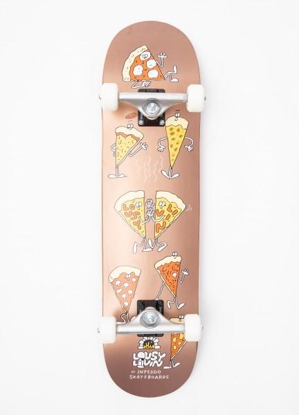 "Inpeddo X Lousy, Pizza, Skateboard Std Compl - 8.0"""
