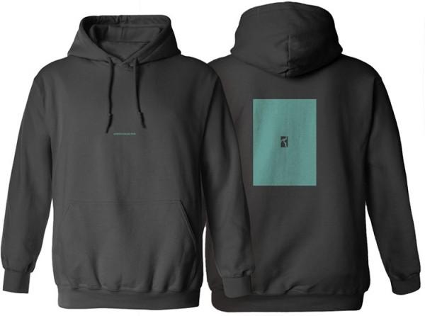 Poetic Collective, Hoodie, Box, black / turquoise