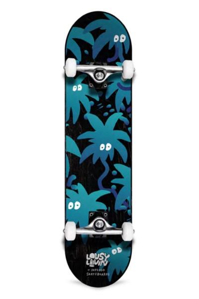"Inpeddo X Lousy, Livin Palm Eyes, Skateboard Std Compl- 8.0"""