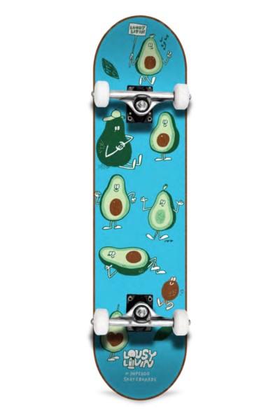 """Inpeddo X Lousy, Livin Avocado, Skateboard Std Compl- 7.75"""""""