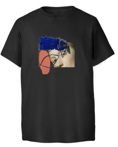 Poetic Collective, T-Shirt, Half and half, black