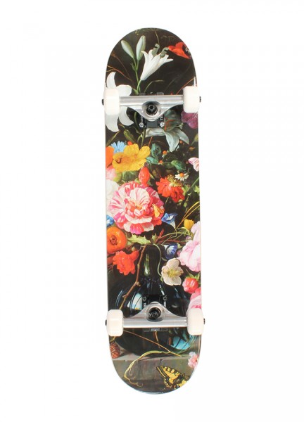 Über Skateboards, Flowers, Skateboard 4-Star Compl - 7.75""
