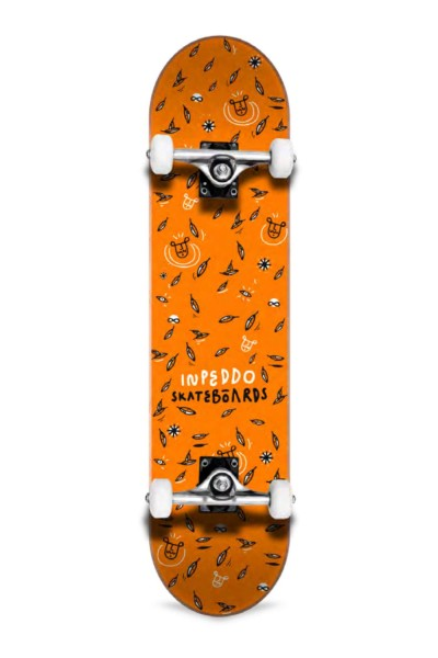 Inpeddo, Leaf, Skateboard Basic Compl, orange - 8.0""