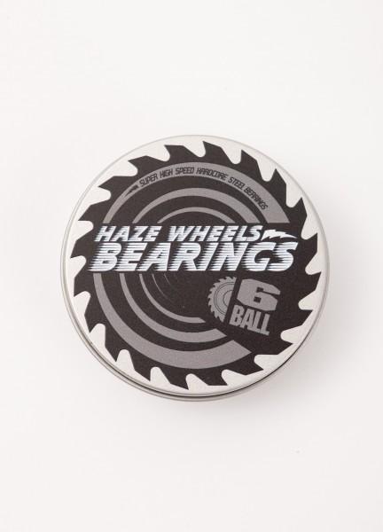 Haze Wheels, Bearings Set of 8, 6 Ball, Hardcore Steel