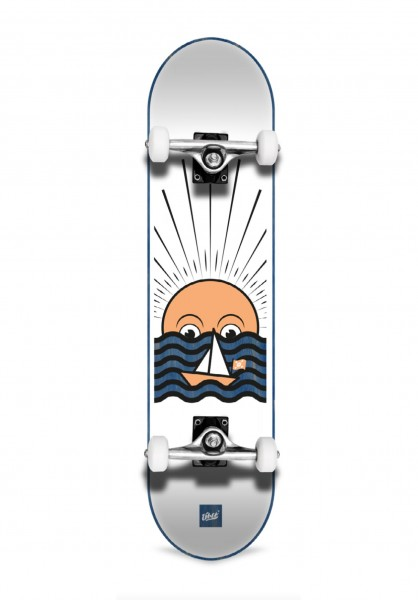 """Über Skateboards, Sunset, Skateboard 3-Star Compl, blue - 7.75"""""""